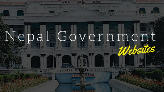 Nepal government websites