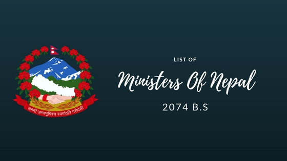 ministers of Nepal