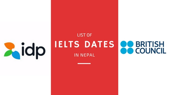 IELTS dates in Nepal